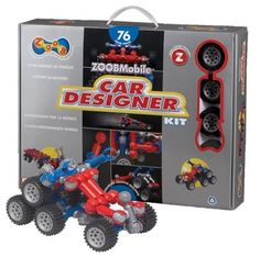 ZOOBMobile Car Designer 76. Kids can create and build many type of vehicles . A gift idea - toys for 7 year old boys
