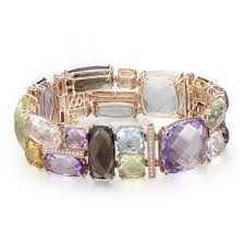 @dabakarovj 14KRG Gemstone Medley Bracelet. #bracelet #jewelry #fashion Collection carried at #stoneoakjewelers