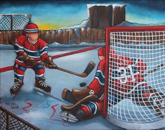 hockey Awesome Art, Cool Art, Hockey Drawing, Ice Rink, Islamic Wall Art, Winter Pictures, Montreal Canadiens, Sports Art, Winter Scenes