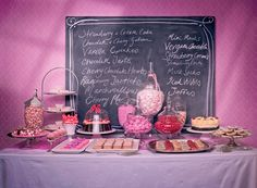 This sweets table is suitable for any sort of party and all jars, platters, plates and stands can be hired from Hire Society.
