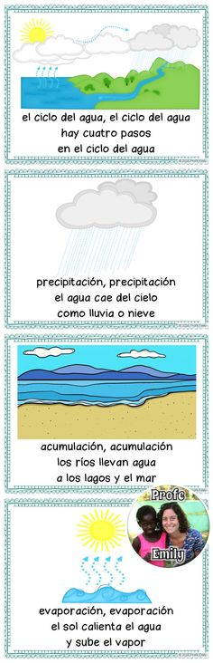 "Teaching the water cycle in Spanish? Use this cute song (sung to ""The Farmer in the Dell"") to help your students learn and remember! *Free for a limited time!*"