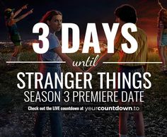 Counting down the days, hours, minutes and seconds until Stranger Things Season 4 Release Date Stranger Things Quote, Stranger Things Steve, Stranger Things Season 3, Stranger Things Aesthetic, I Call You, 19 Days, Shows On Netflix, Release Date, Season 4
