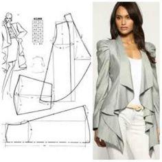 Blouse Patterns, Sewing Patterns, Pattern Cutting, Jacket Pattern, Pattern Fashion, Dressmaking, Barbie, Kimono, Vogue