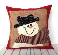 Schneemann Weihnachten Kissenbezug Urlaub von ThatDutchGirlPillows