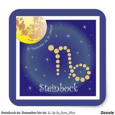 Steinbock 22. Dezember bis 20. Januar Aufkleber
