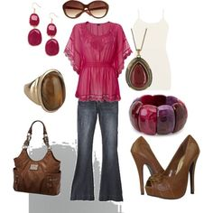 Purple & Pink Outfits | fashion look from March 2012 featuring BKE tops, Bongo jeans and ...
