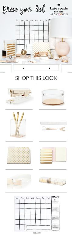 kate spade new york desk accessories! Now at Swoozie's!