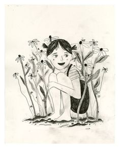 A drawing based on Up in the Garden and Down in the Dirt for the American Library Association auction 2015. graphite on paper, 11x14. Pre-order the book: http://www.chroniclebooks.com/titles/up-in-the-garden-and-down-in-the-dirt.html