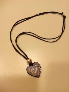 Colgante corazon strass