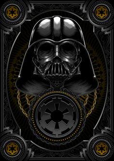 Death Side Series : Darth Vader & Shadow Stormtrooper by Charles AP, via Behance