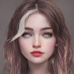 Digital Art Anime, Digital Art Girl, Digital Portrait, Portrait Art, Female Character Inspiration, Fantasy Character Design, Beautiful Fantasy Art, Character Portraits, Fantasy Girl