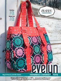 Evelyn Handbag & Market Tote - Swoon Sewing Patterns