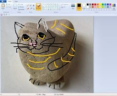 Painting Rock & Stone Animals, Nativity Sets & More: Rock Painting Tip: How to Test Your Design Before Painting It on a Rock