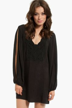 Nena Crochet Dress // black