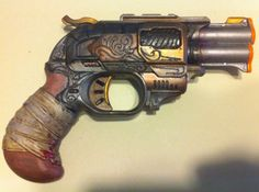 Steampunk Cosplay One of A Kind Hand Engraved Nerf Gun LARP Weapon | eBay