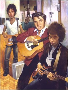 Elvis, Dylan and Springsteen,  Rolling Stone Magazine by Roberto Parada