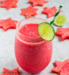 Watermelon, lime, rum and a little bit of sugar make absolutely refreshing summer drink. Frozen Watermelon Daiquiri is simple, delicious and relaxing!