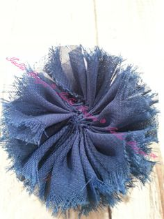 Unfinished  Navy Ballerina Flower by IsellusDesigns on Etsy