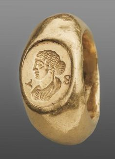 Gold Ring with bust of Faustina II Roman, Imperial Period, century A.