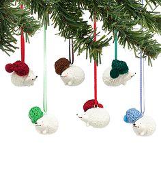 Knit wits Hedgehog Ornament Set