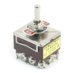 AC 380V 10A ONOFFON 3 Positions 12 Pin Latching Toggle Switch 4PDT Model * Click image for more details.