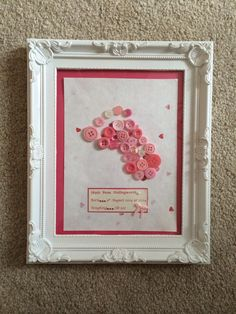 Personalised Baby Frame available in any colour.   Creations_for_occasions@outlook.com   £20
