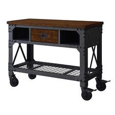 "Whalen 48"" Metal & Wood Work Bench"