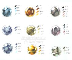 Copic Italia: Metalli: color chart!