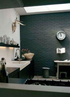 Ideas kitchen black brick interior design for 2019 Interior Design Blogs, Brick Interior, Home Design Decor, Küchen Design, Kitchen Interior, Interior Inspiration, House Design, Home Decor, Design Kitchen