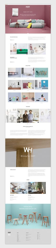 HAY by Emanuele Cecini, via Behance #website #webdesign #design #web #internet #site #webdesigner #designer #layout #template #theme #pikock www.pikock.com #ui #ux