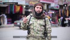 Photo: In a propaganda video, a Belgian Islamic State member and former Belgium4Sharia member claims credit on behalf of the Islamic State for the March attacks in Belgium. Photo sourced by the Terrorism Research and Analysis Consortium.