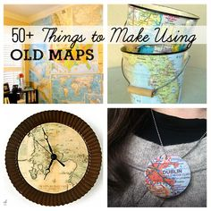 50-Best-DIY-Projects-to-Make-Using-Old-Maps-@savedbyloves.png 600×600 pixels