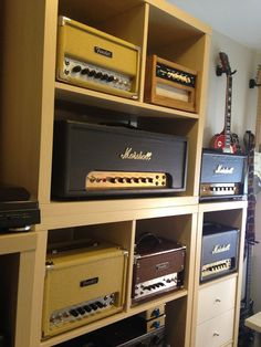 guitar amp shelves i 39 d have this be the bar countertop with a curtain to protect the amps. Black Bedroom Furniture Sets. Home Design Ideas