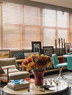 Persiana horizontal de madera