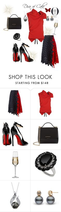 """""""Red and Black outfit"""" by Diva of Cake on Polyvore featuring Marni, Roland Mouret, Posh Girl, Givenchy and Krosno"""
