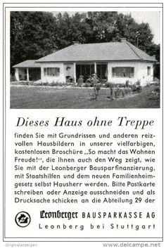 Original-Werbung/ Anzeige 1958 - LEONBERGER BAUSPARKASSE - ca. 65 x 110 mm