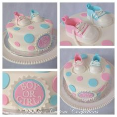 Gender cake without shoes ontop
