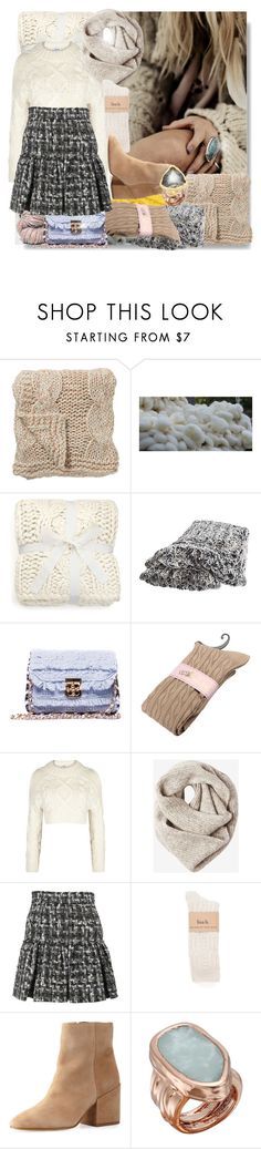 """""""Chunky Knit"""" by sue-mes ❤ liked on Polyvore featuring Bloomingville, UGG, Overland Sheepskin Co., DKNY, Toast, Dolce&Gabbana, Sam Edelman, Vince Camuto and Uno de 50"""