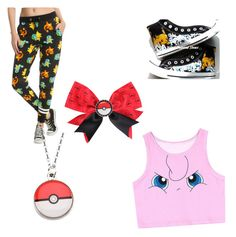 """""""Pokemon themed outfit"""" by inditheghostkittie on Polyvore featuring Converse and Nintendo"""