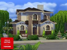 The Sims Resource: Villa Defne by Takdis • Sims 4 Downloads