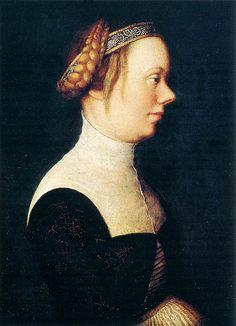 Holbein, Hans the Elder (1465c.-1524) - 1518-20 Portrait of a Woman (Museo Thyssen-Bornemisza, Madrid)
