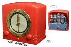 "Catalin Radio  -   Kadette    ""Model K25 Clockette""    (1937)"