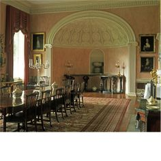 The dining room at Renishaw Hall
