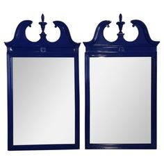 Check out this item at One Kings Lane! Blue Federal-Style Mirrors, Pair