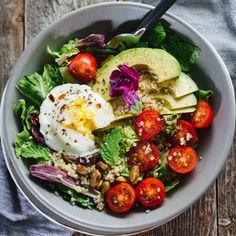Poached Egg & Avocado Breakfast Salad