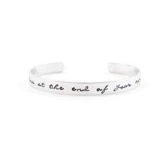 Life begins at the end of your comfort zone. - Your quote on a bracelet - armband met tekst Sobriety Gifts, Metal Stamping, Be Yourself Quotes, Metal Art, Hand Stamped, Style Me, Give It To Me, Comfort Zone, Bracelets