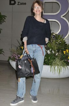 Jane Birkin arrives at Narita airport in 2011 clutching her eponymous bag. Picture: WireImage