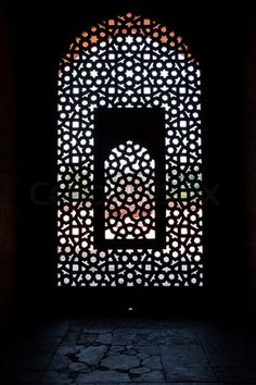 Fretwork: the pattern of the ages.  Case in point...gorgeous carved window screen at Humayun's Tomb, India