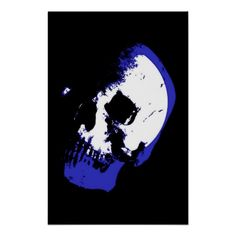 Skull Poster Print Fantasy Art Heavy Metal Rock