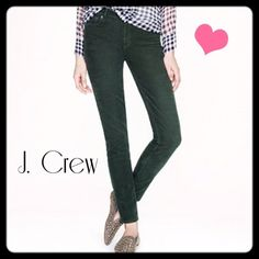 J.Crew City Skinny Cords Black skinny cords from J.Crew.   Great style and fit. J. Crew Pants